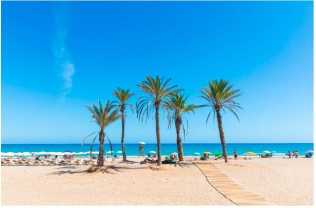 In Alicante, you can enjoy your holiday lying on the sandy beach