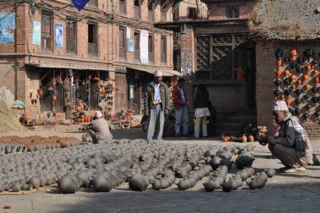 Ceramic production in Bhaktapur Nepal