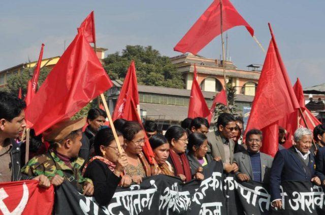 Demonstration in Kathmandu Nepal
