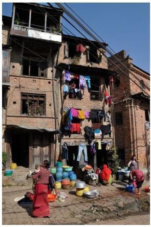Everyday life in Bhaktapur Nepal