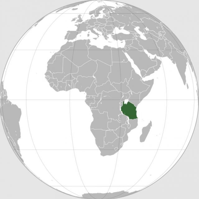 Geographical location of Tanzania