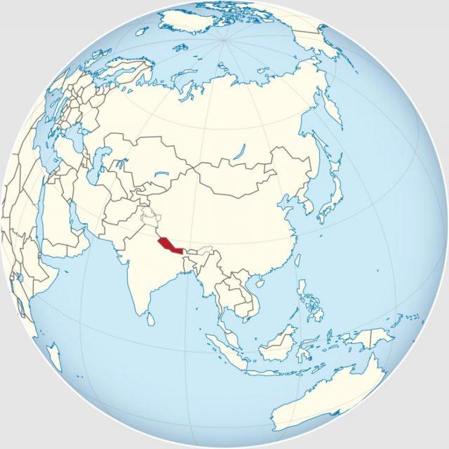 Location of Nepal