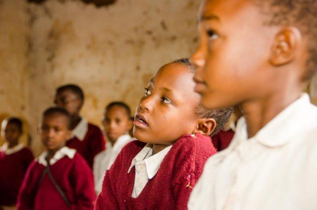 Tanzanian children get a free primary school education
