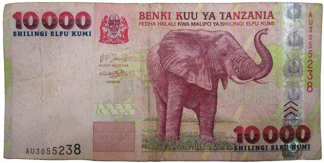 Ten thousand Tanzanian shillings