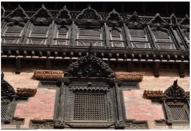 Wood carvings in Bhaktapur Nepal